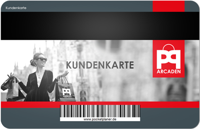 Kundenkarte für ein Shopping-Center