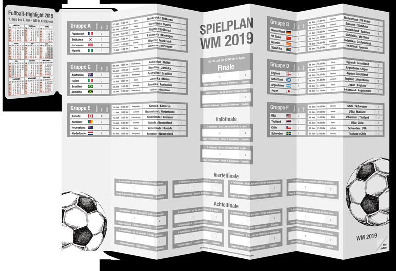 PocketPlaner aus Spielplan für die Fussballweltmeisterschaft 2019